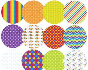 digital circles patterned pattern - Rainy Day Patterned Circles