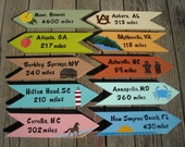 PRIVATE LISTING for GABY, Custom Personalized Signs, Set of 9 Hand Painted Signs, Directional Signs