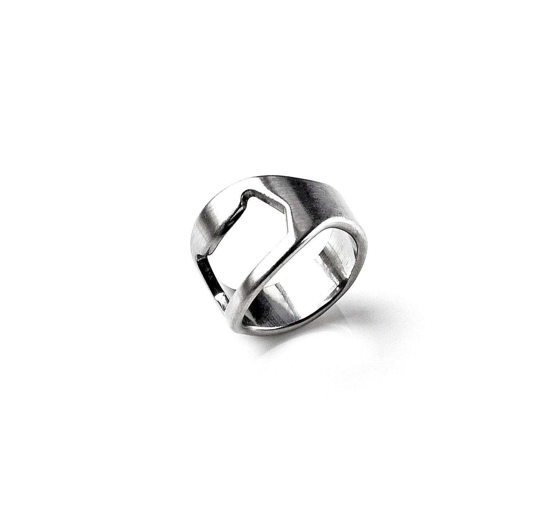 ring bottle opener anniversary present wedding rings