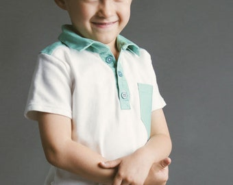 Perfect Polo PDF Sewing Pattern Boys Toddlers 18m 2T 3T 4T 5 6 7 8