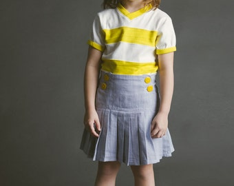Schoolday Skirt PDF Sewing Pattern Girls Toddlers 18m 2T 3T 4T 5 6 7 8