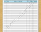 Transactions Register - Bill Tracker - PDF