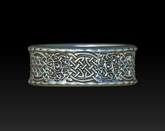 wedding ring  celtic ring   celtic band    celtic wedding ring   wedding band YB12