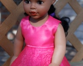 Pink Party Dress - Made to fit 18 inch dolls - American Girl Doll