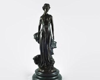 Vintage Preifs Cast Bronze Figural Statue