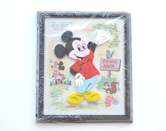 Vintage Mickey Mouse 1960's Child Guidance Toy 14 Piece Puzzle - Magnetic Children's Toy - Sealed Never Used