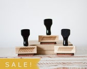 SALE! Washi Inspired - Rubber Stamp Set with Handles