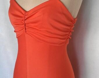 Beautiful Coral Maxi Dress