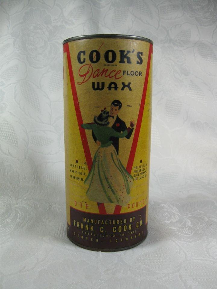 Vintage 1940s Cook S Dance Floor Wax Twirling Couple