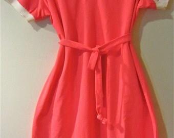 HOTT Bubblegum Pink Polo Shirt Dress
