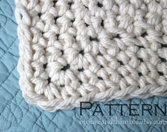 "Queen Size Chunky Afghan Blanket Easy Crochet PATTERN 85"" x 66"" (216 x 168) cm - PDF 8566"
