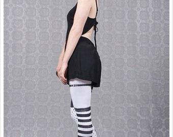 Pippi Garter Legging - Striped Legwear - Polka Dot Striped Tights - Legging Womens Tights
