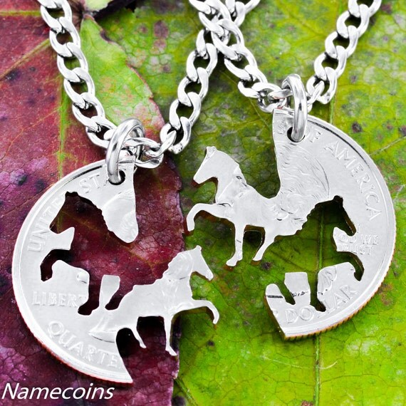 Friendship Quotes Jewelry: Horse Bff Necklaces Cowgirl Best Friends Jewelry