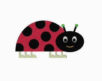Ladybug filled machine embroidery design.  Comes in multiple sizes.  Instant download.