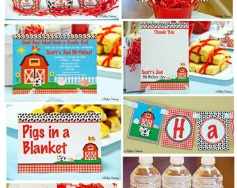 Barnyard Birthday Party Package...Custom, Printable DIY Package
