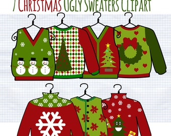 Sweater clipart   Etsy