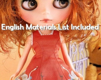 Blythe V Shaped Dress,Under Skirt,Petticoat, Over Knee Socks Sewing Pattern PDF English templates names, Sewing key included