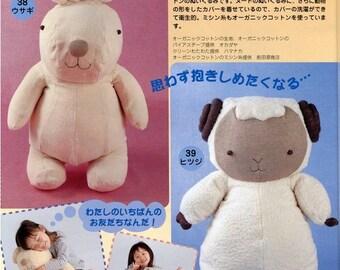 4 in 1 Huge Koala, Sheep, Bunny and Seal Plush Sewing Pattern PDF