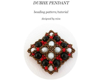 Dubhe Pendant - Beading Pattern/Tutorial - PDF file for personal use only