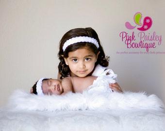 Halo Baby Headband. Baptism Headband. Christening Baby Girl Headbands Infant Headband. Baby Hairbows. Baby Hair Accessories. Christening Bow