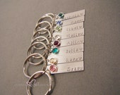 Bridesmaid Gift, Set of Bridesmaid Keychains, Personalized Name Keychains, Birthstone Keychains, Personalized Wedding Bridal Party Gift idea