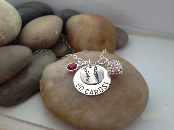 Saint Louis Cardinals - Baseball Jewelry - Team Jewelry - Hand Stamped - Team Spirit Jewelry