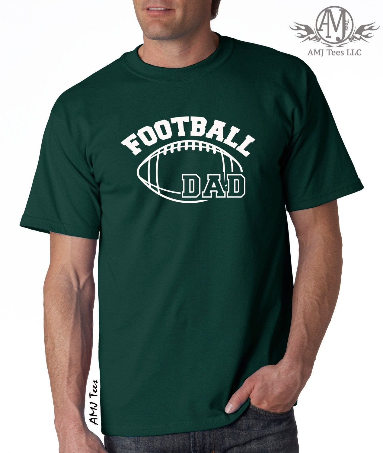 Personalized football dad shirt custom football by for Custom t shirts one day delivery