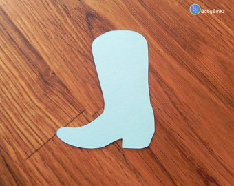 Die Cut Blue Cowboy Boots (25+) - photo prop party decoration punch cutout card stock