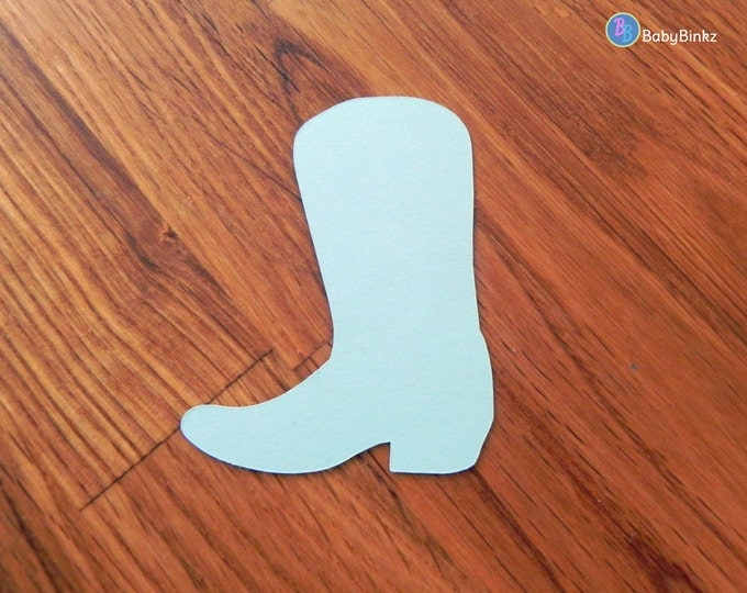 Die Cut Blue Cowboy Boots (25+) - photo prop party decoration punch cutout card stock