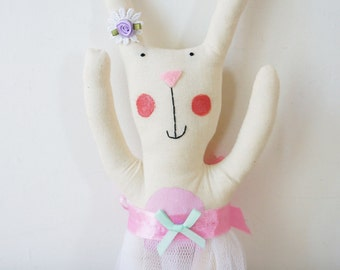 handmade bunny rabbit doll for christening and new baby