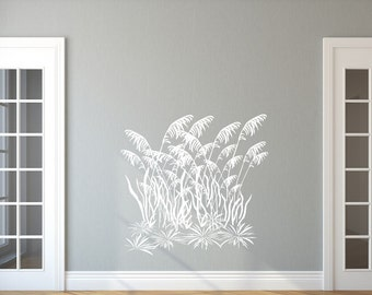 Sea Oats Decal, Sea Grass Decal, Vinyl Wall Decal, Beach Decal, Beach House Decor, Wall Decor, Style C 22424