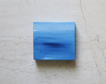 Greek Summer Memento - Seascape - Small Format Painting -- Miniature Painting - Abstract Sea - Contemporary art