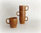 Retro Mugs Vintage Stacking Coffee Mugs