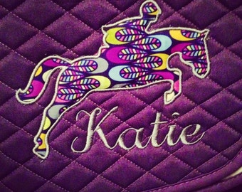 Applique hunter/jumper Saddle Pad *Many Fabric Choices*