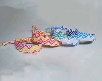 Custom Multi-Colored Zig-Zagged Friendship Bracelet