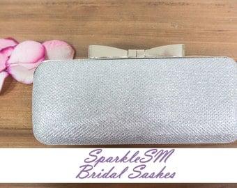 Rhinestone Clutch, Bridal Clutch, Wedding Hand Bag, Wedding Purse, Sparkly Rhinestone Minauderie, SparkleSM Brida Sashes