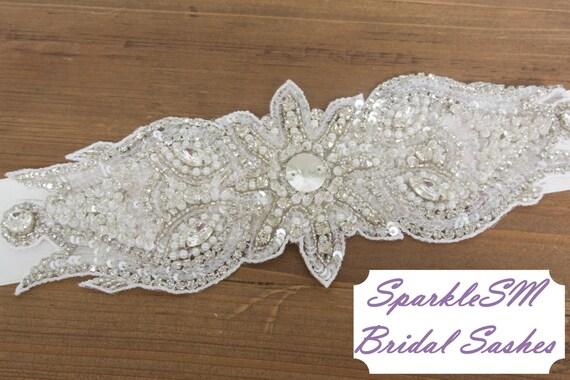 Rhinestone Crystal Bridal Belt Sash, Wedding Belt, Bridal Accessories, Crystal Belt, Bridal Belt Sash, SparkleSM Bridal Sashes, Cordelia
