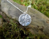 Tree of Life Necklace - Artisan Handcrafted - Made with Recycled Fine Silver - Silvan Tree - Tiny Tree Necklace - Eco Friendly Jewelry