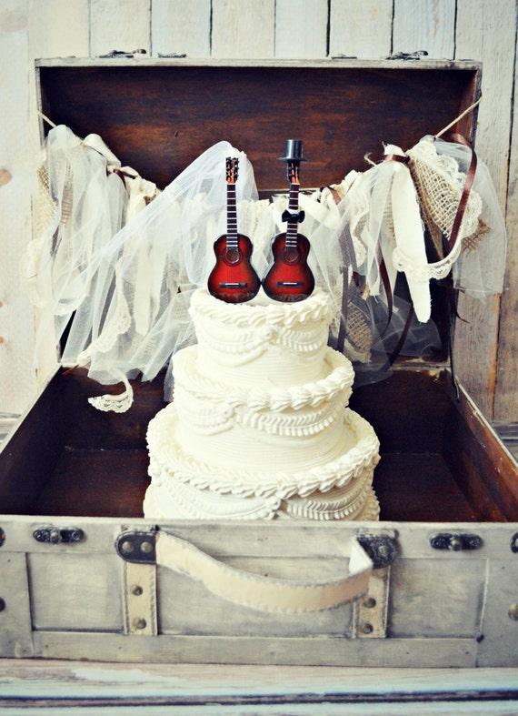 Music Guitar Wedding Cake Topper Instrument Music