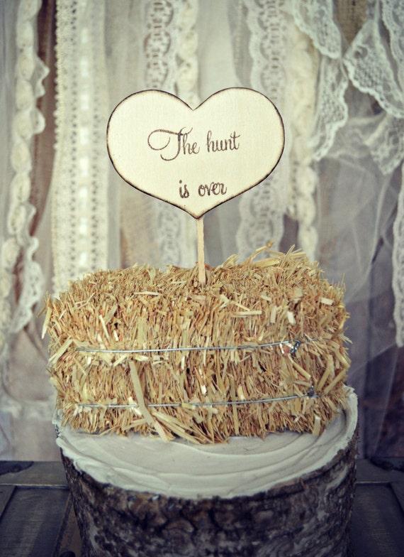 Hunting Wedding Cake Topper Sign Wedding By Morganthecreator