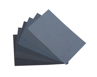 Sandpaper Wet and Dry Assortment - Package of 20 Sheets - Suitable for Metals, Glass, Ceramics and Stone - Jewelry Finishing Tool
