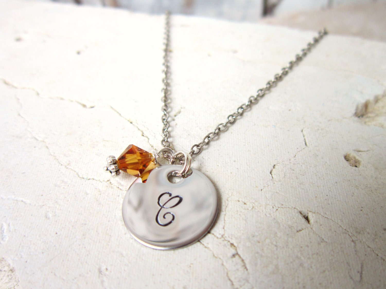 personalized children 39 s birthstone necklace circle. Black Bedroom Furniture Sets. Home Design Ideas