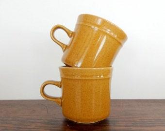 Pair of Midland Stoneware Mugs | Red Strawberries | Made in Japan