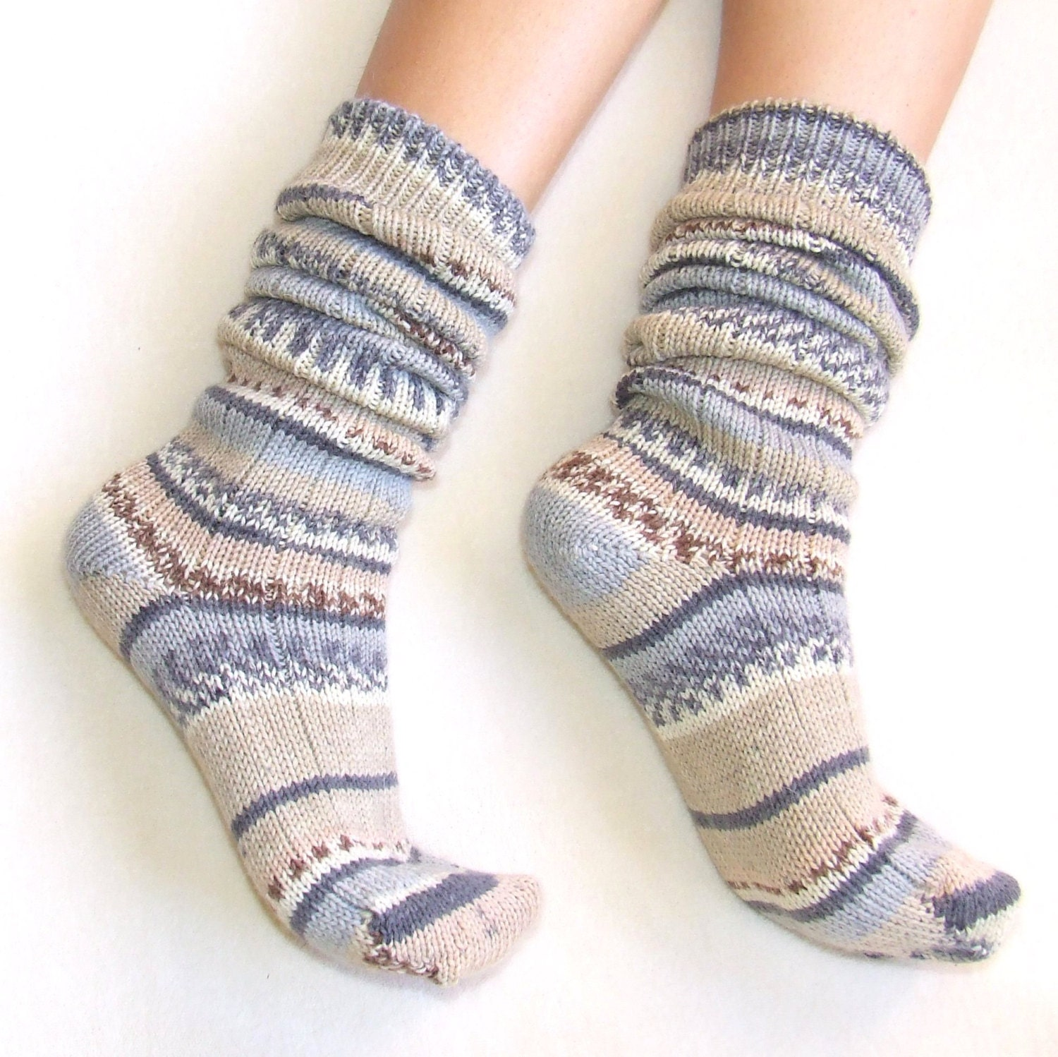 Knee knit socks made with heavy wool super warm by ...