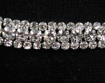 Triple row diamante trim, diamante, rhinestones, trim, rhinestone trim, rhinestone applique, rhinestone embellishment,
