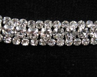 Triple row diamante trim, diamante, rhinestones, trim, rhinestone trim, rhinestone applique, rhinestone embellishment,