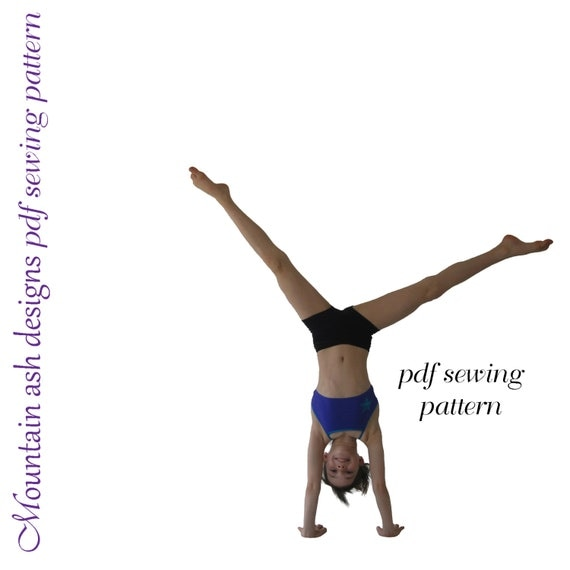 Gymnastics Dance Pattern Training Wear Separates 1 pdf sewing patterns