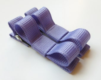 light purple hair clips--tuxedo style accessories for infants toddlers and big girls-shower gift ideas