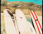 Surfboard Photography, Surfboards Art, Retro Beach Wall Art, Surfer Art
