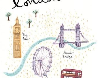 London A4 Art Print